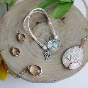 Fashion Glittery & Earthy Jewels Earrings